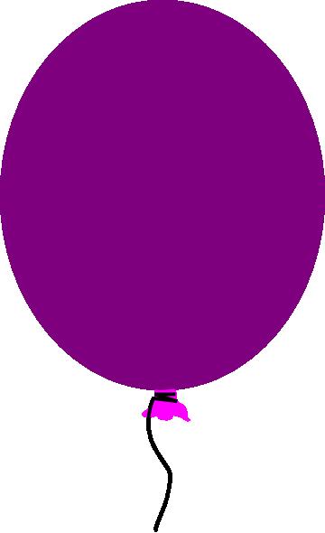 Purple Balloon Clip Art at Clker
