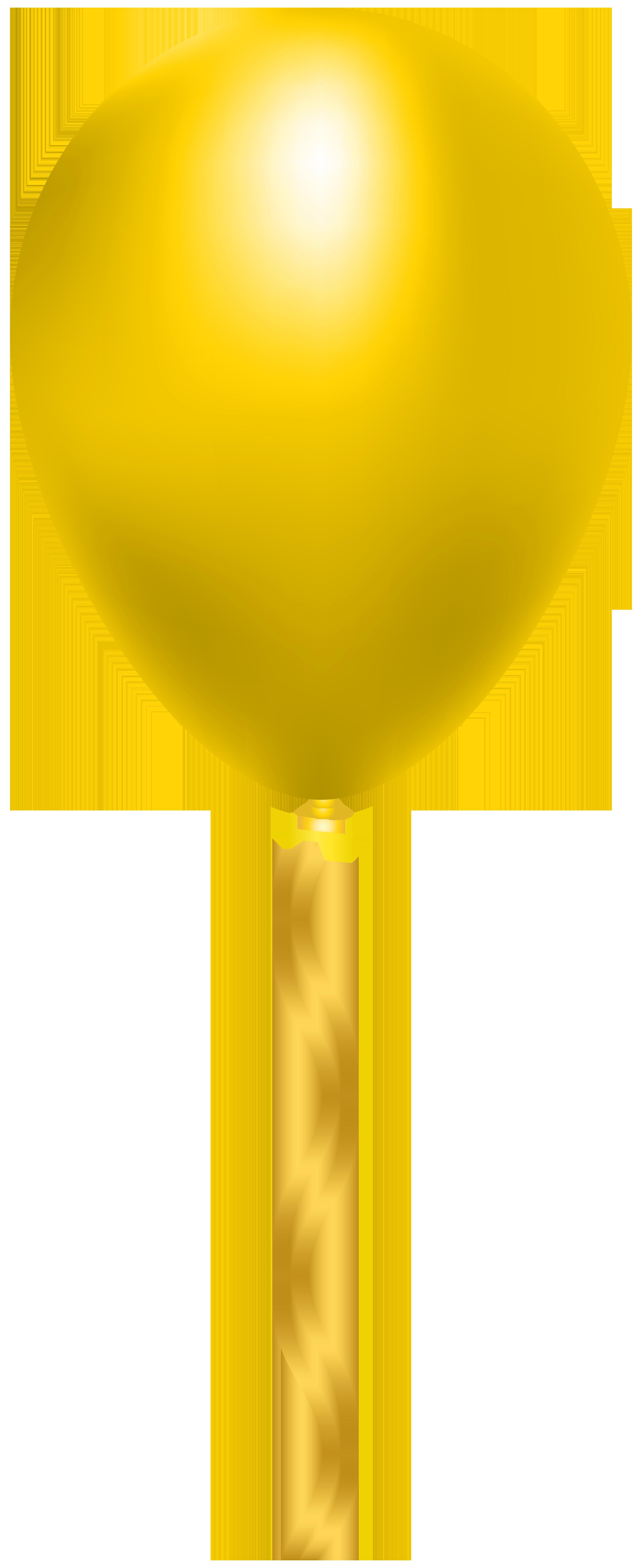 Yellow Balloon PNG Clip Art Image