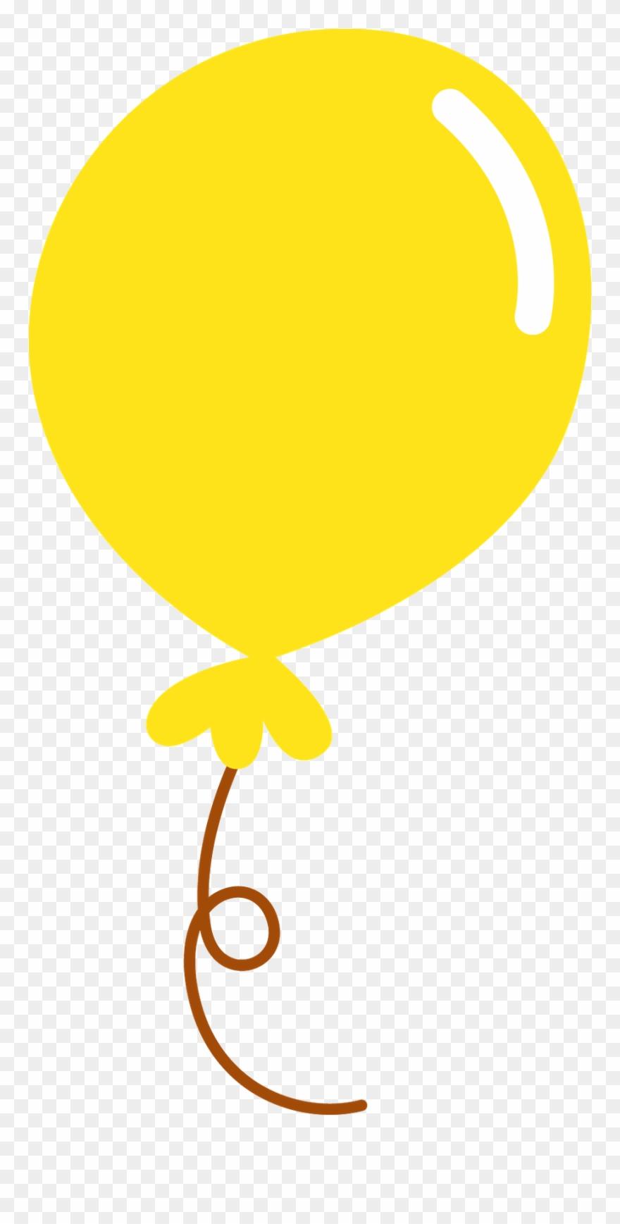 Yellow Balloons Clip Art