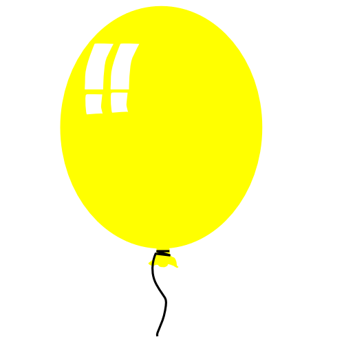 Yellow balloon clipart free clipart images