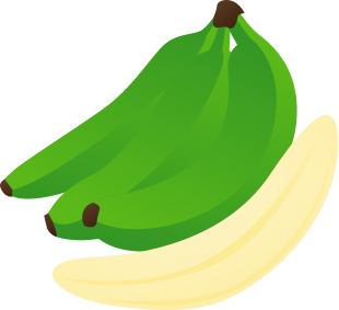 Bananas clipart green.