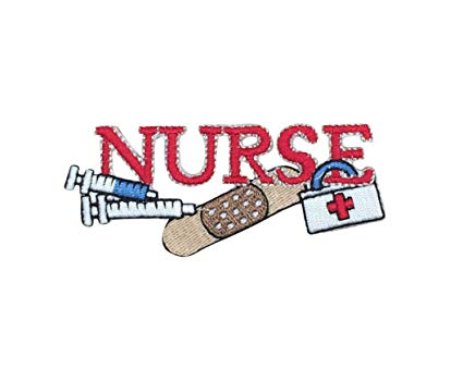 Red nurse with.