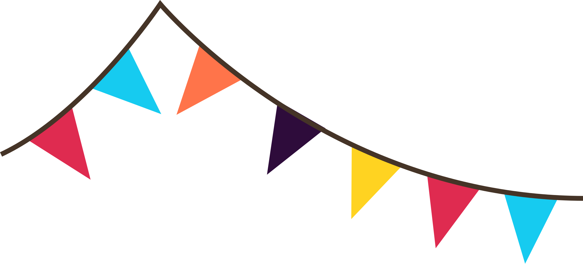 fiesta banner clipart triangle