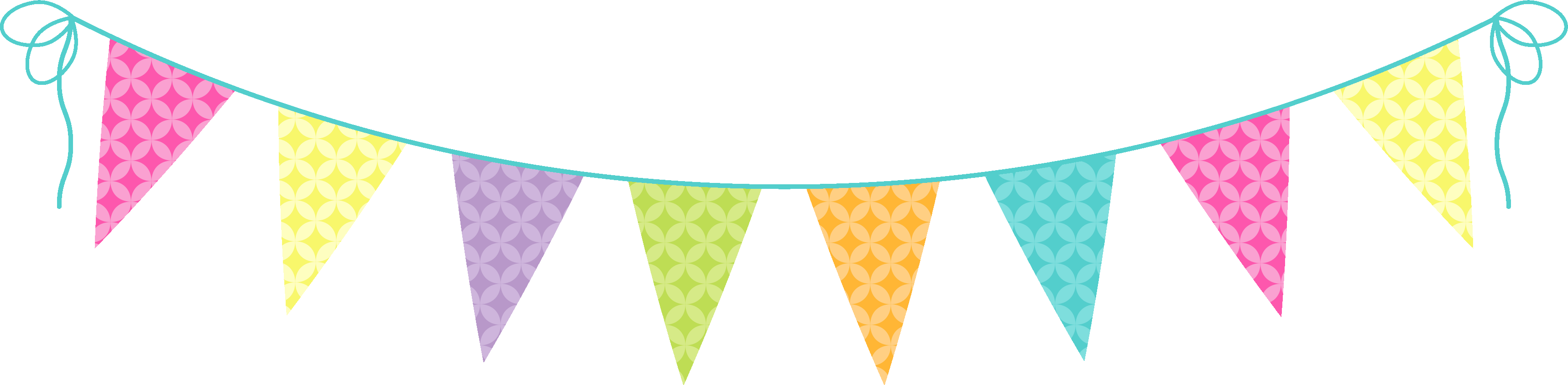Fiesta banner clipart colorful. Pennant triangle