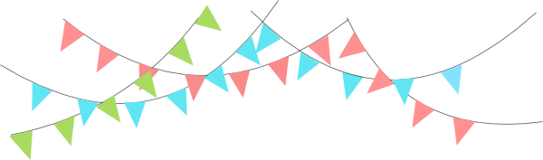 Triangle flag banner.