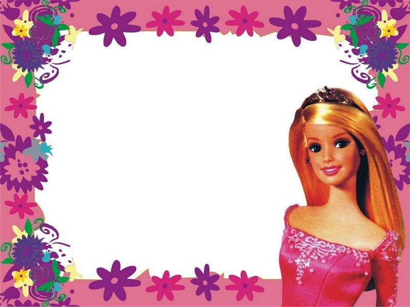 Barbie clipart frame.