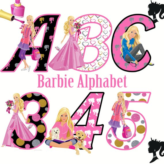 Barbie alphabet instant download.