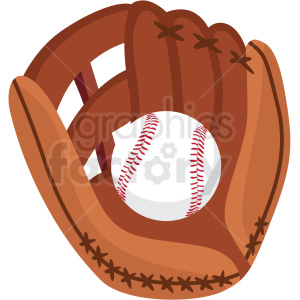 Baseball and glove.