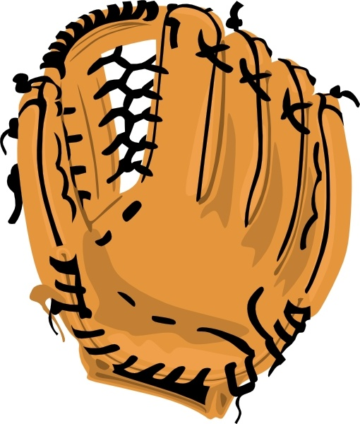 Baseball Glove clip art Free vector in Open office drawing