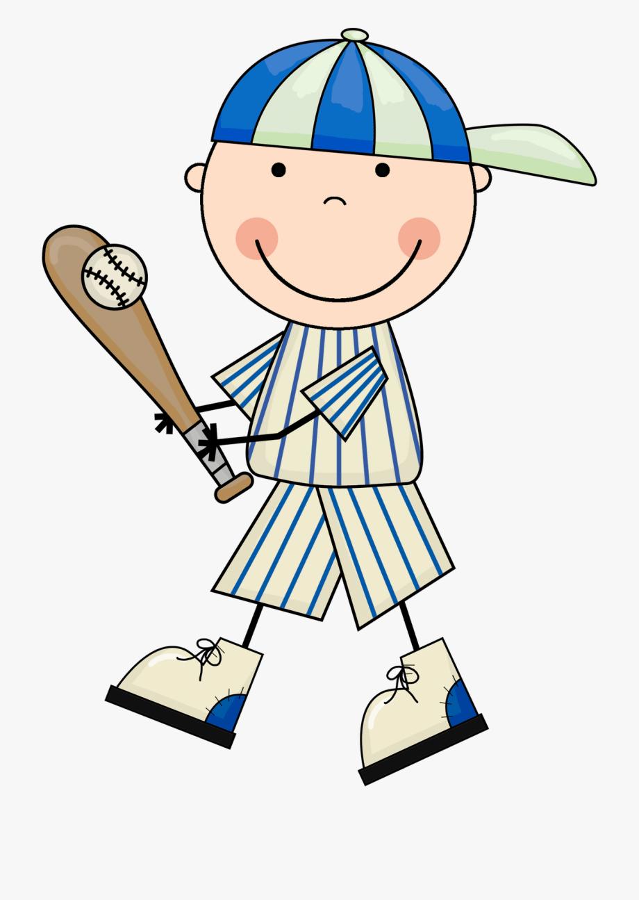 Baseball clipart kid.