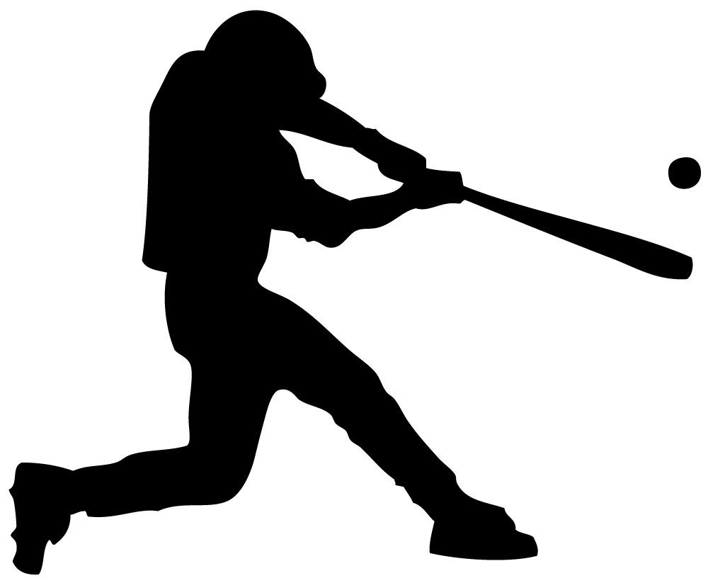 Swinging homerun baseball.