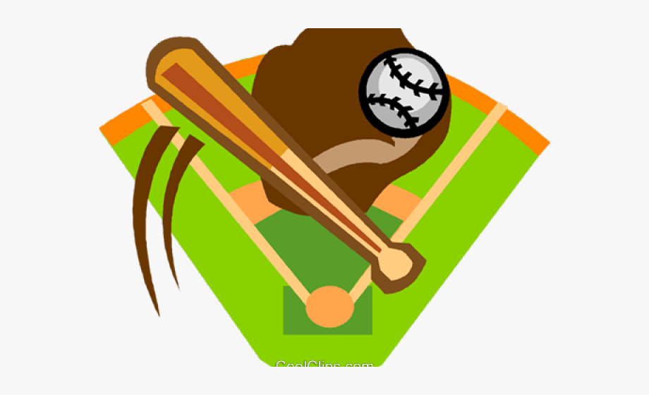 baseball diamond clipart bat