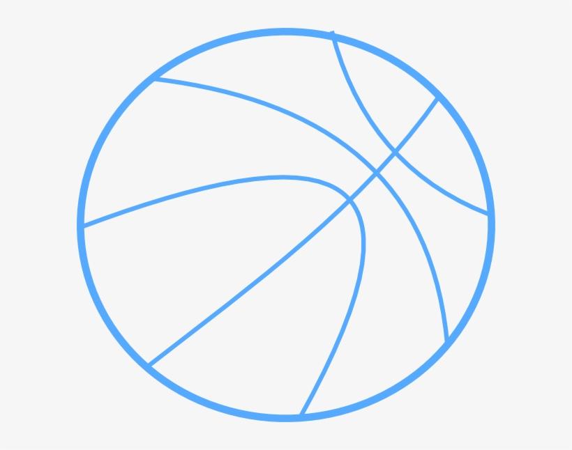 Blue basketball outline.