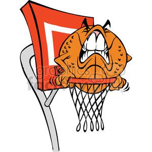 Cartoon basketball character.