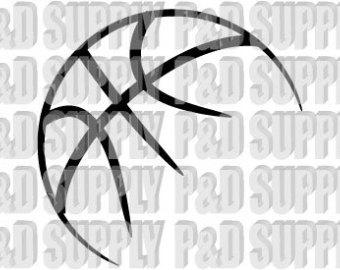 Half basketball clipart.