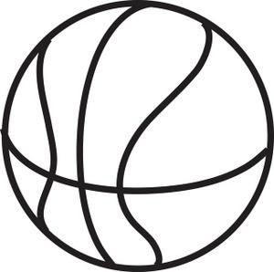 Basketball clipart outline.