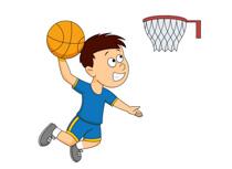 People playing basketball.