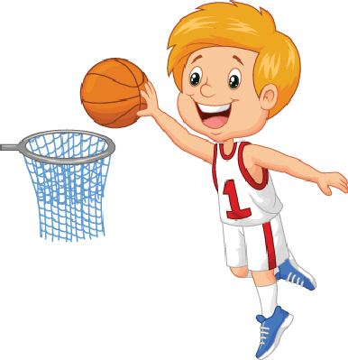 Clipart playing basketball.