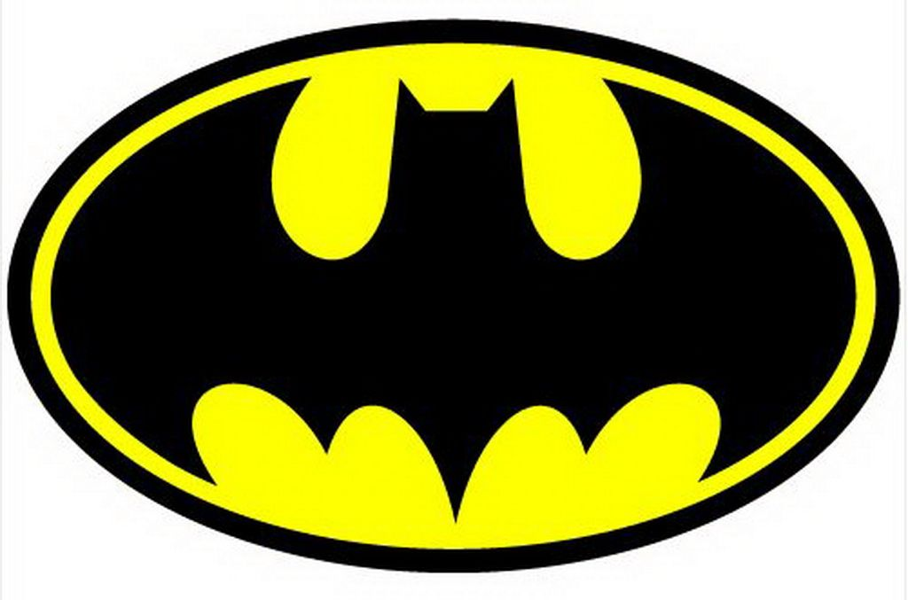 BATMAN BAT CHEST SYMBOL LOGO IRON ON TSHIRT TRANSFER