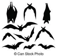 Bats hanging vector.