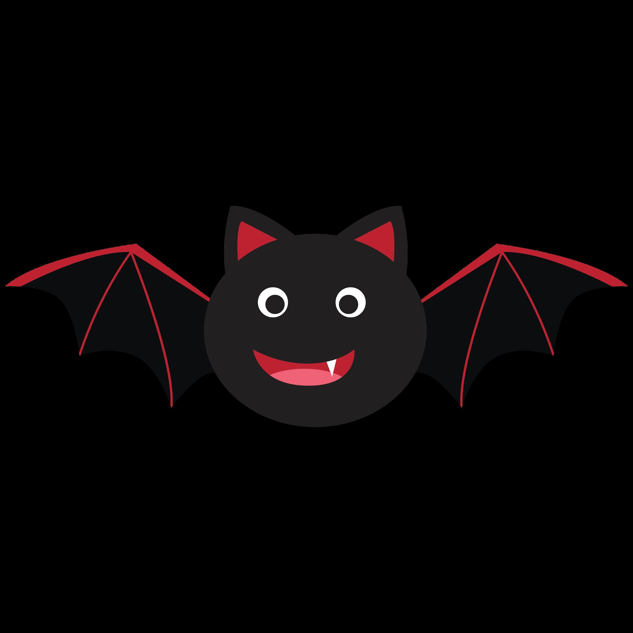 Kawaii clipart bat.