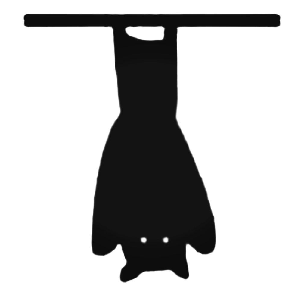 Bat Hanging Upside Down Decal Sticker