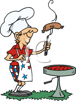 Iclipart man cooking.