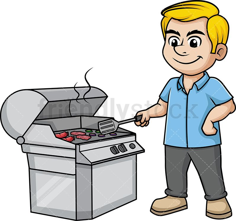 Man cooking the.