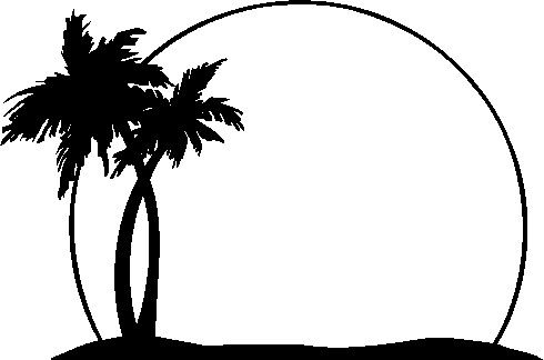 Black20and20white20tree20clipart palm tree.