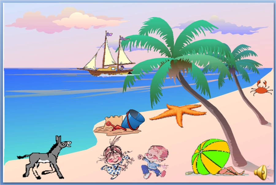 Palm tree background.
