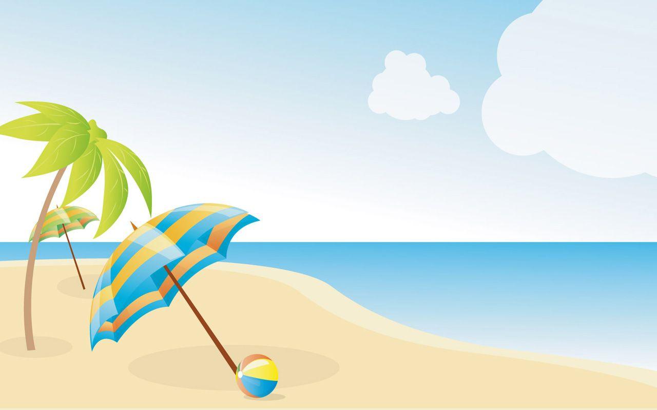 beach clipart simple