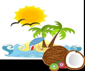 Beach sun coconut.