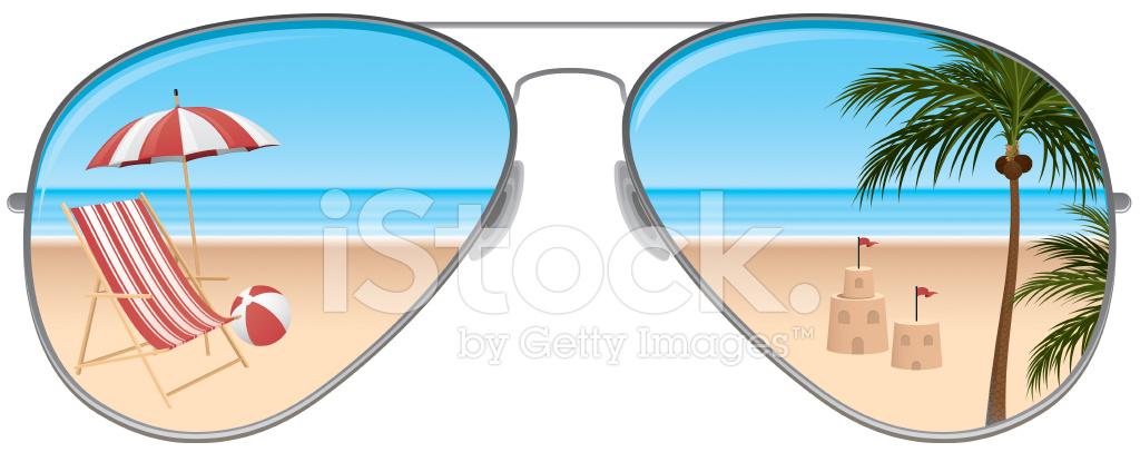 Beach sunglasses stock.