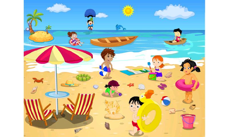 beach clipart family