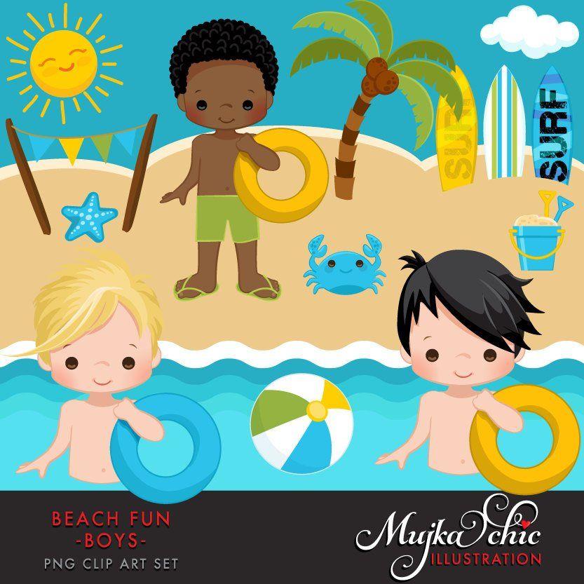 Beach fun clipart.