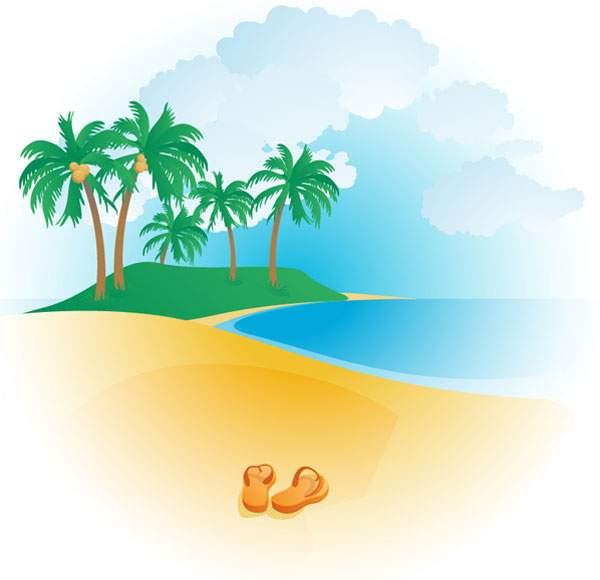 Free tropical beach.