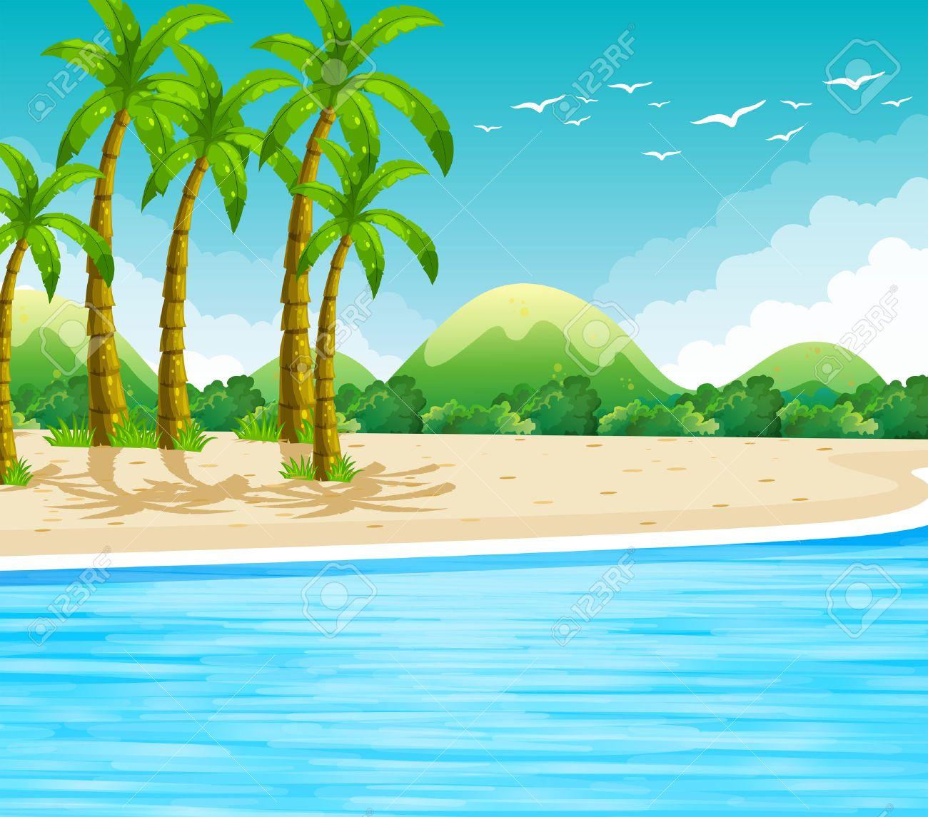 Beach water clipart