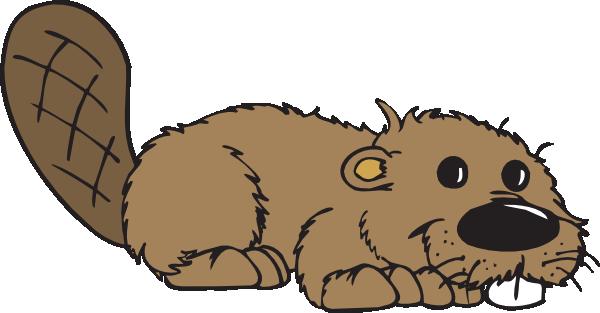 Cartoon beaver clip.