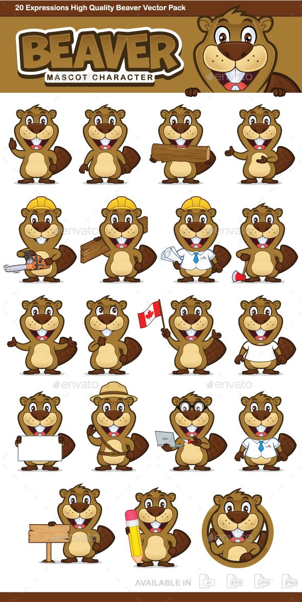 Beaver Mascot Character by sundatoon