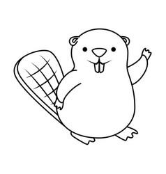 beaver clipart outline