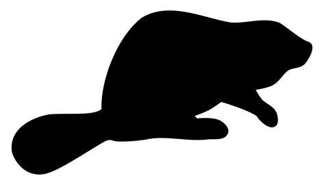 Beaver silhouette dustwin.