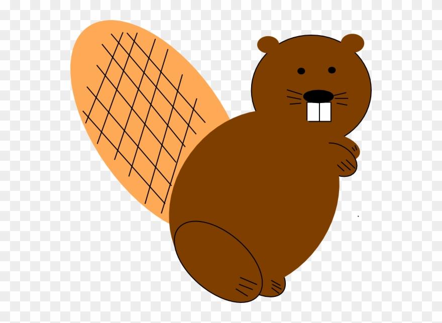 Beaver clipart simple.