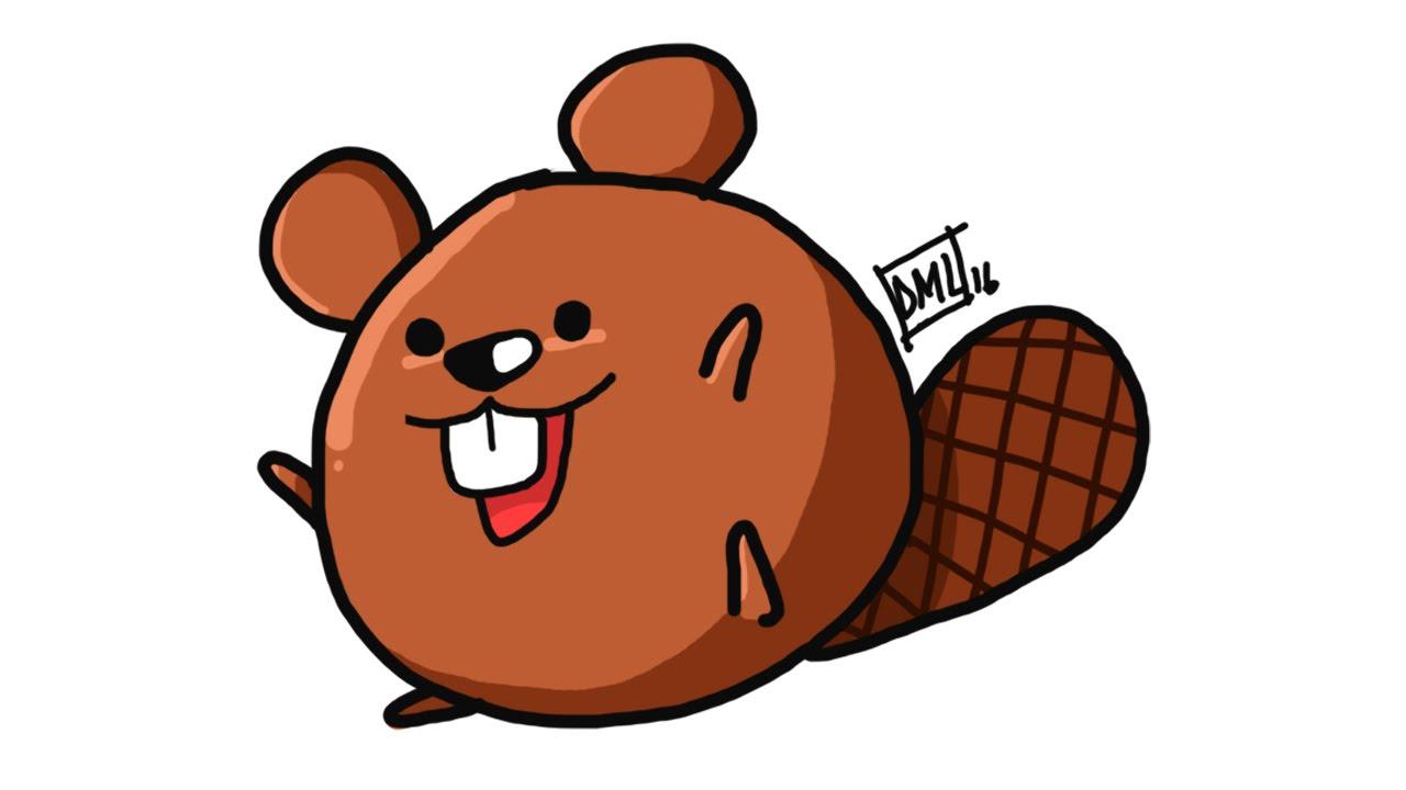 Beaver clipart easy.