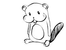 Simple beaver drawing.