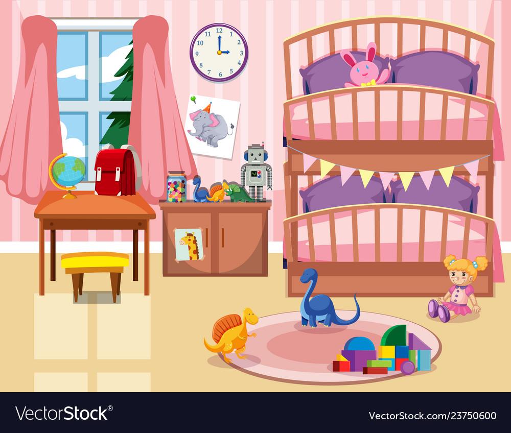 Kid bedroom background.