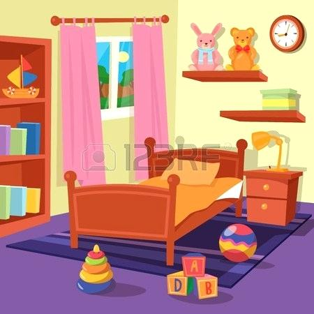 Kids bedroom clipart.