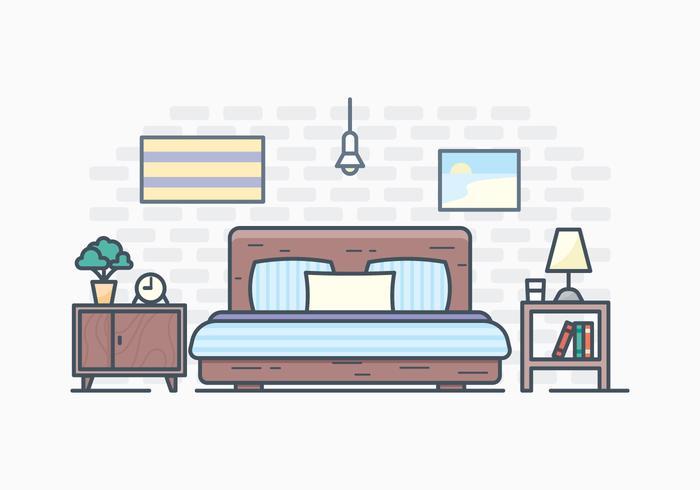 Free simple bedroom.