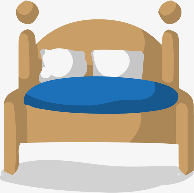 Bed clipart simple.