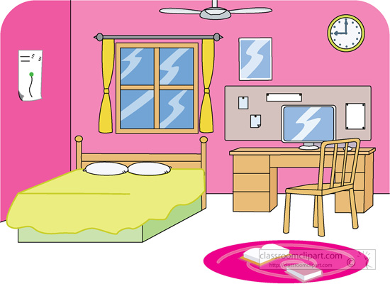 clipart of furniture bed