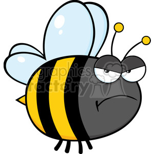 Bee clipart angry. Royalty free clip